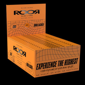 ROOR UNBLEACHED SLIM PAPERS + TIPS BOX